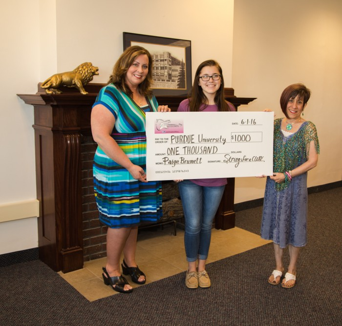 $1000 StringsforaCURE Educational Scholarship Winner Paige Brumett