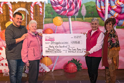 StringsforaCURE Foundation is a 2017 The Zone Dance Club held their 12th annual Breast Cancer fundraiser Recipient